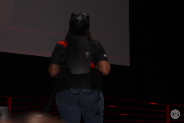 VR with a backpack. Doesn't look silly at all...