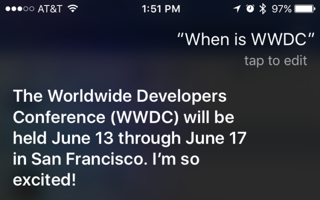 Siri will supposedly get a good bit of attention this year.