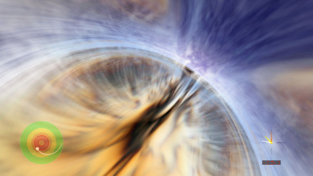 Event horizon ringing damped by unstable space-time
