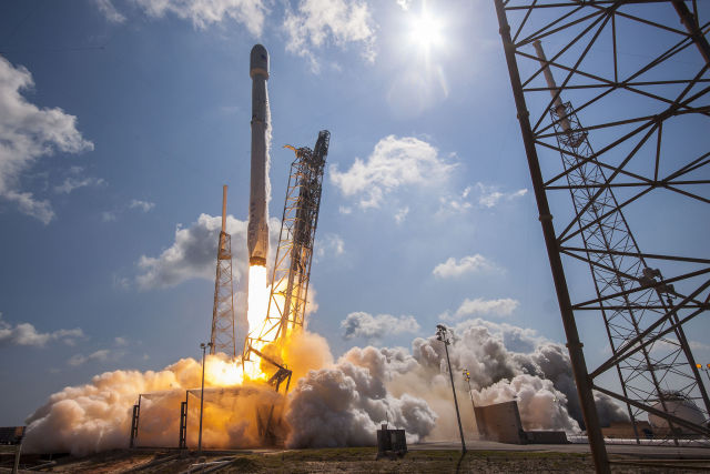 SpaceX launch a 'booming' success