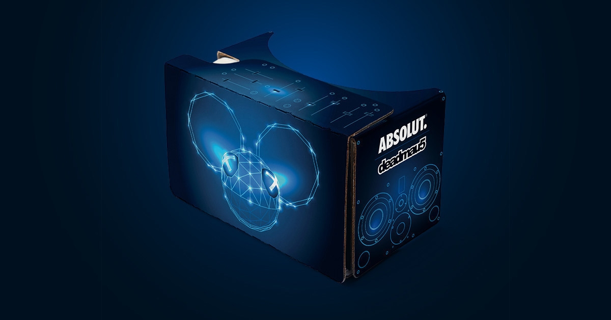 If you have yet to grab a Google Cardboard set for your smartphone, and you really, really like Deadmau5, Absolut will sell you this branded box for less than $20.