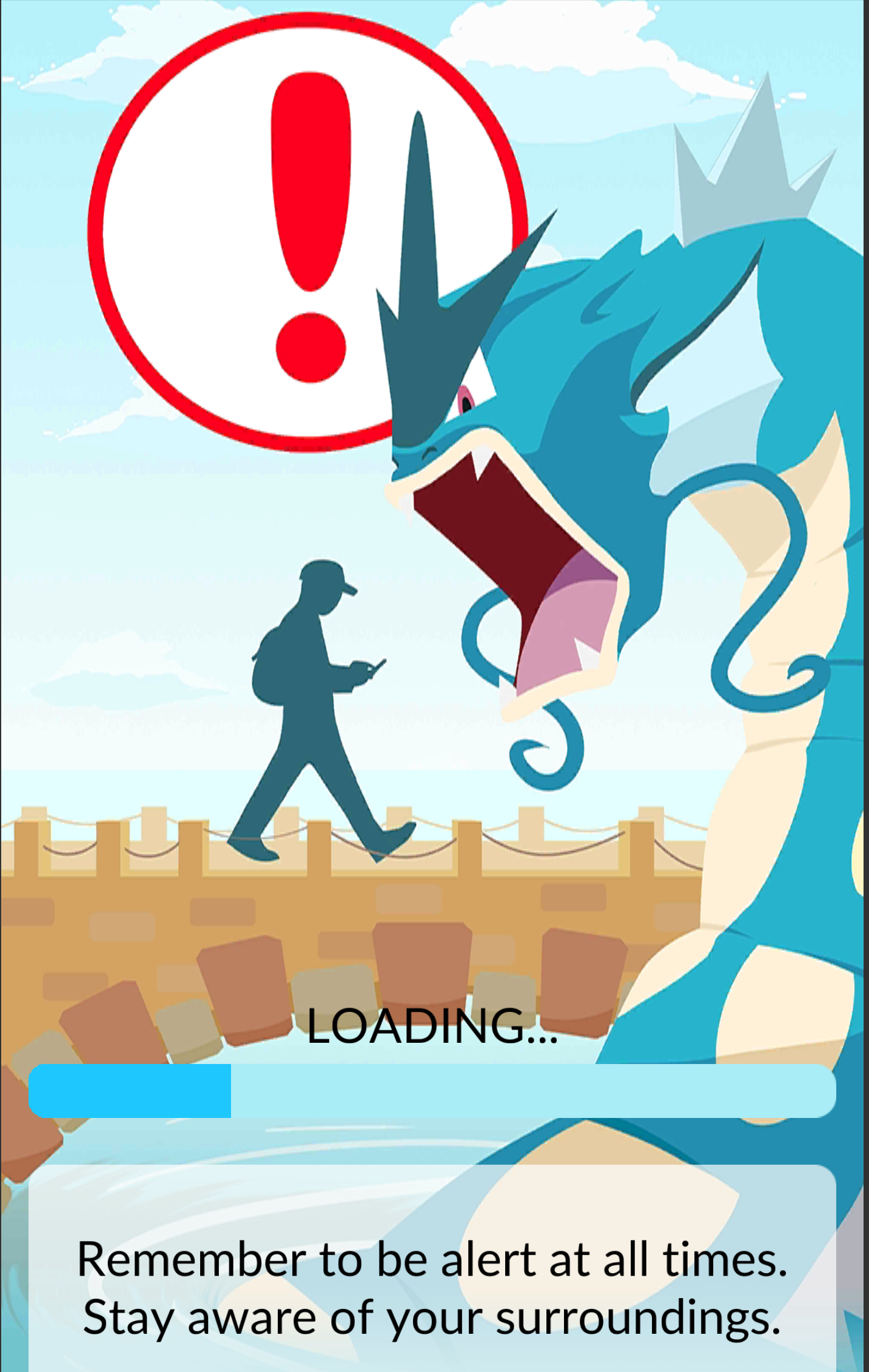We wonder if Niantic is going to change this Pokémon Go loading screen after Friday's strange news.