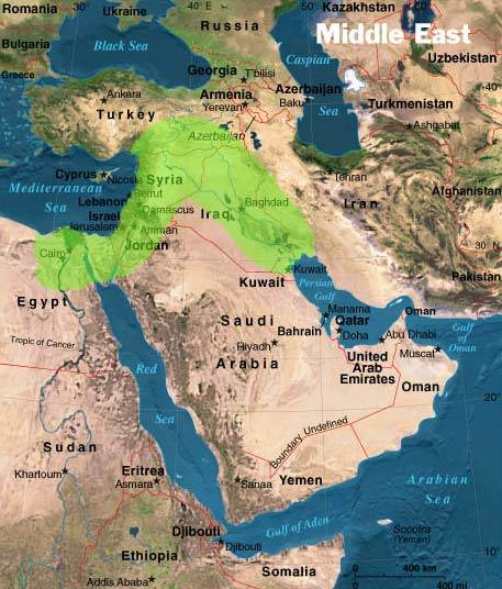 The Fertile Crescent is marked in green.