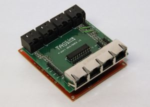 The custom-made TASLink hardware that lets TASBot flood the NES with thousands of inputs per second.