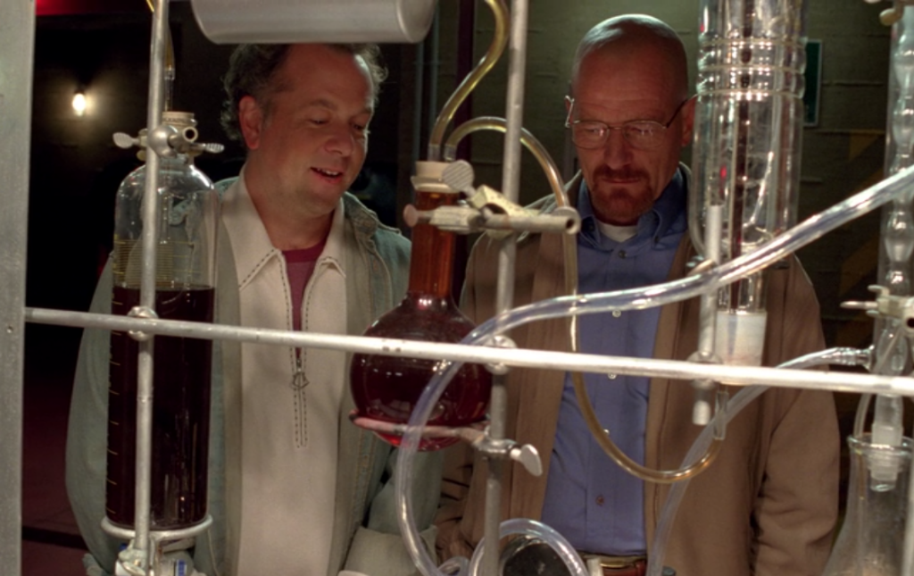 Soylent scientists at work in the food labs refining Coffiest's flavor.