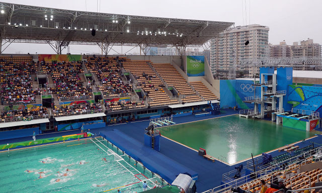 Olympic officials finally give the real reason the pools turned green