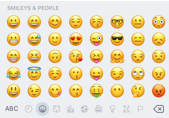 Emoji in iOS 10.