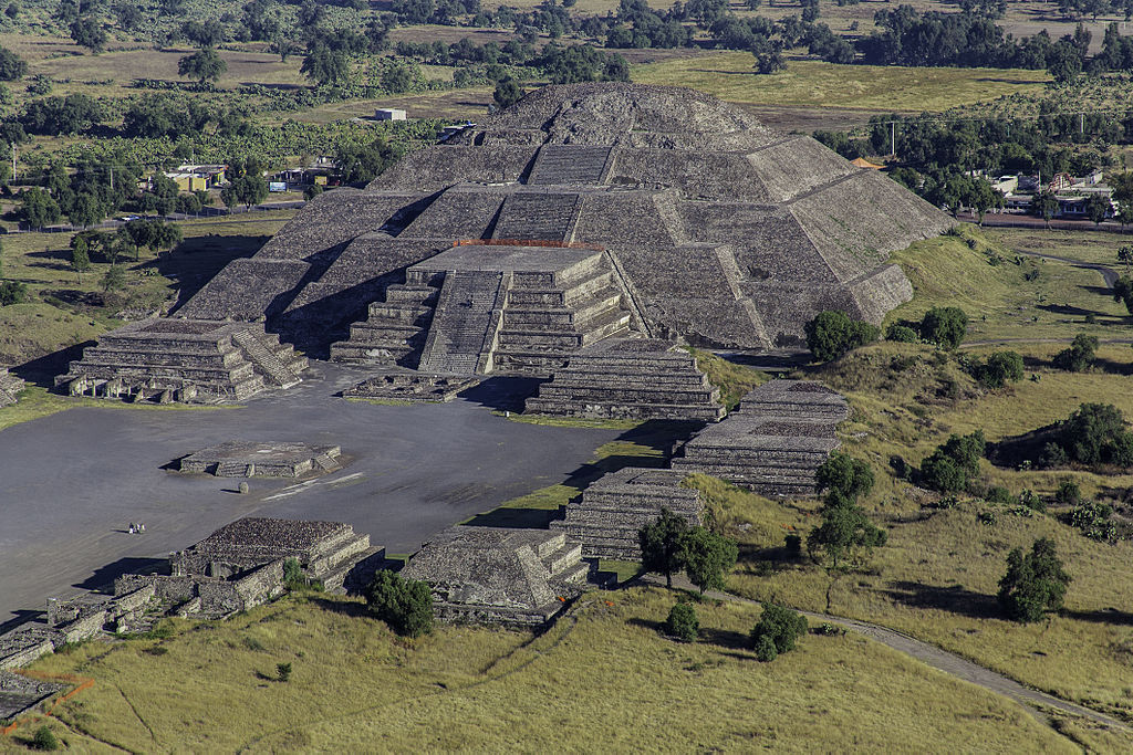The Pyramid of the Moon in Teotihuacan, México.
