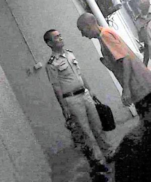 Clark entering court.