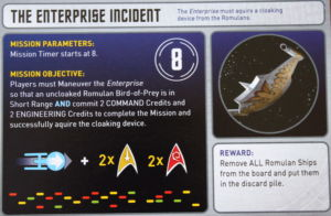 """One of the many """"mission cards"""" in the game."""