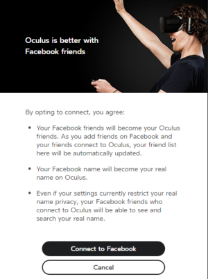 This Facebook-connectivity renew appears to be rolling gone to Oculus Rift users in waves as chunk of the headset PC software's 1.8 update.