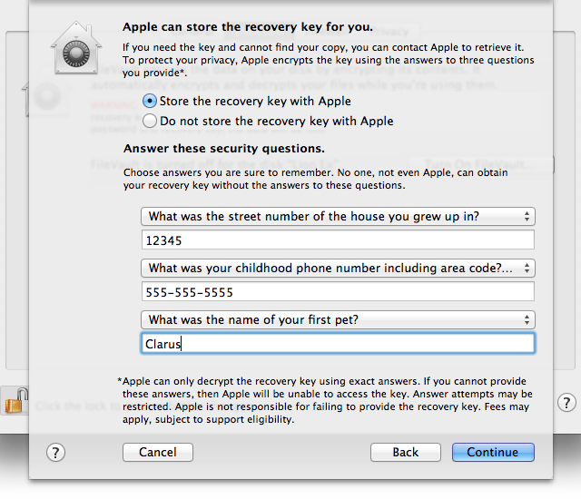 Recovery key escrow: help Apple help you