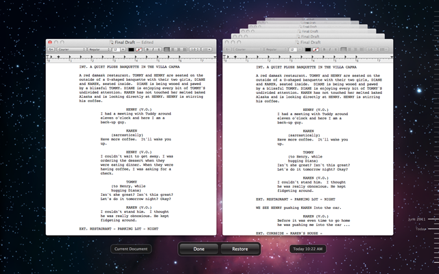 Document version browser…in spaaaaace!