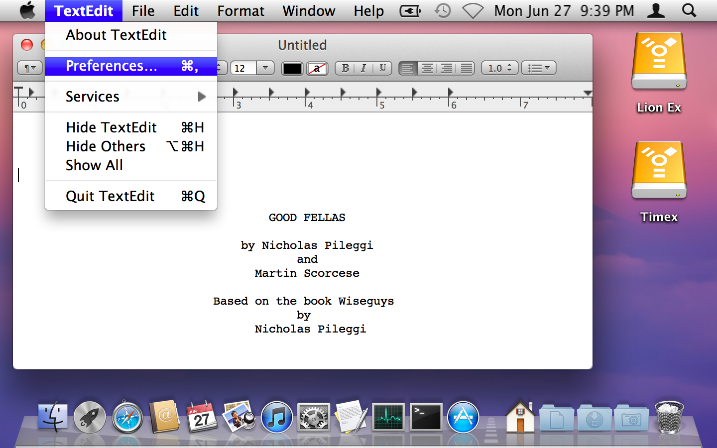 """TextEdit running in Lion's """"HiDPI"""" mode"""