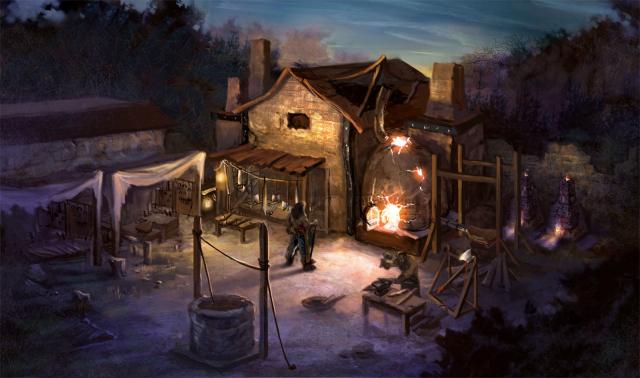 New Tristam concept art courtesy Blizzard Entertainment