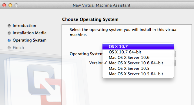 Installing Lion in a Fusion virtual machine