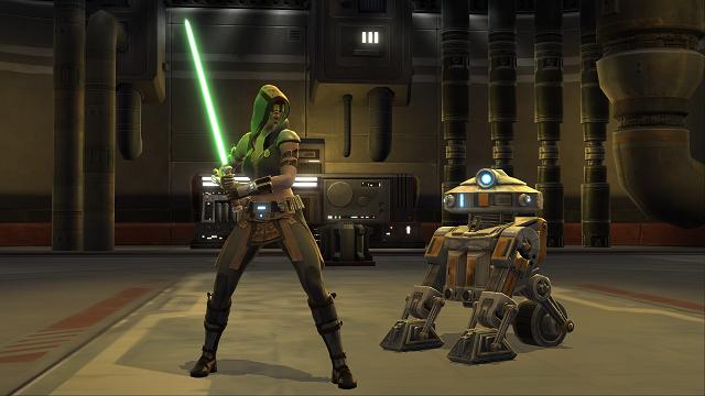 A Jedi Knight and his faithful droid companion, T7
