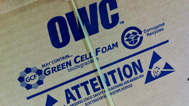 OWC constantly monitors its shipping and packaging needs to minimize environmental impact.