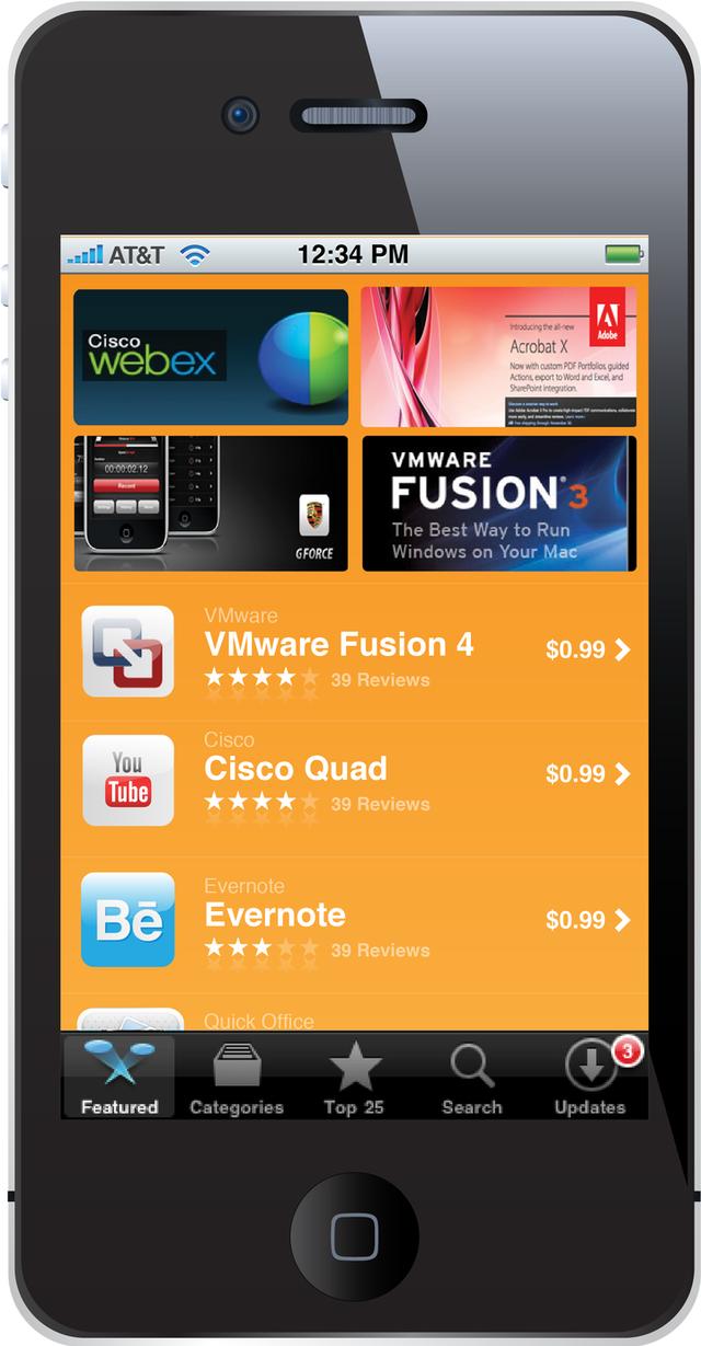 Private app store vendor Partnerpedia's storefront for iPhone