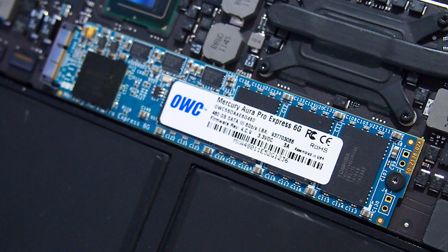 MacBook Air users can get 3x the performance and up to 8x the capacity of a stock MacBook Air SSD with OWC's new 480GB 6Gbps Aura Express module.