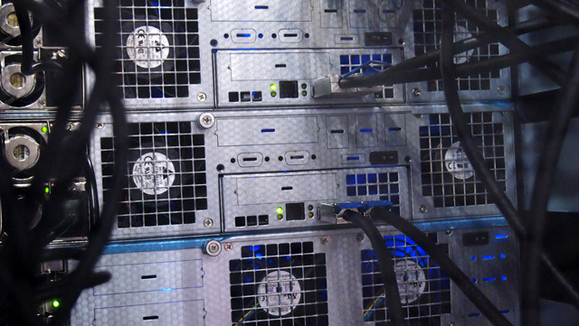 Jupiter units rack mount and can connect either directly or in a SAN topology using a mini-SAS switch or hub.