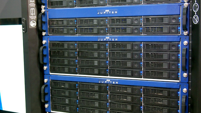 Jupiter comes in 4- and 8-bay towers as well as 8- and 16-bay racks.