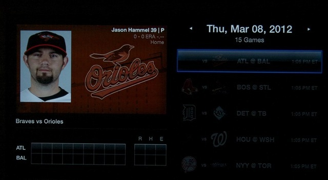 Today's Braves v. Orioles preseason matchup, waiting for the box score to be filled.