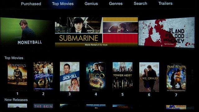 The new iTunes movie interface.