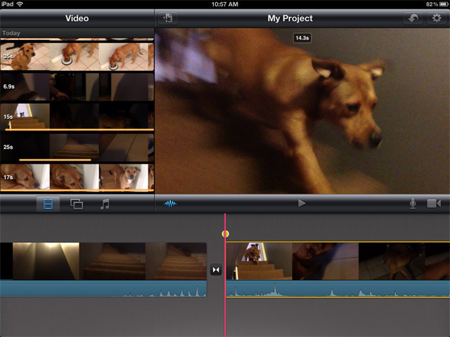 Selecting, arranging, and trimming clips is pretty straightforward in iMovie. Since this is the bulk of the work in editing video, iMovie has the basics covered.