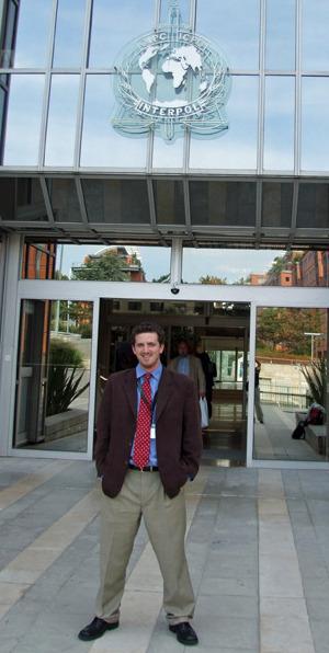 Alex Lanstein at Interpol headquarters