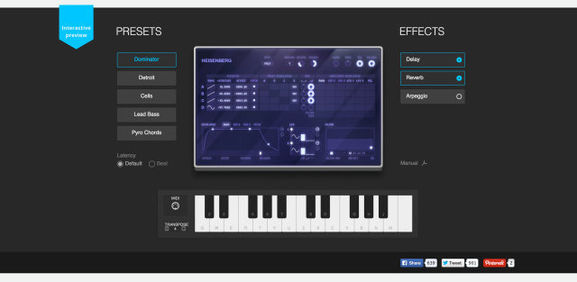 Audiotool's Heisenberg synth is great example of what can be done with HTML5 and Chrome's MIDI support.