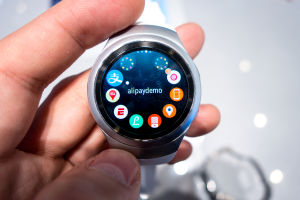Pushing the bottom button on the watch opens up the main menu, which you can scroll through using the twisting bezel.