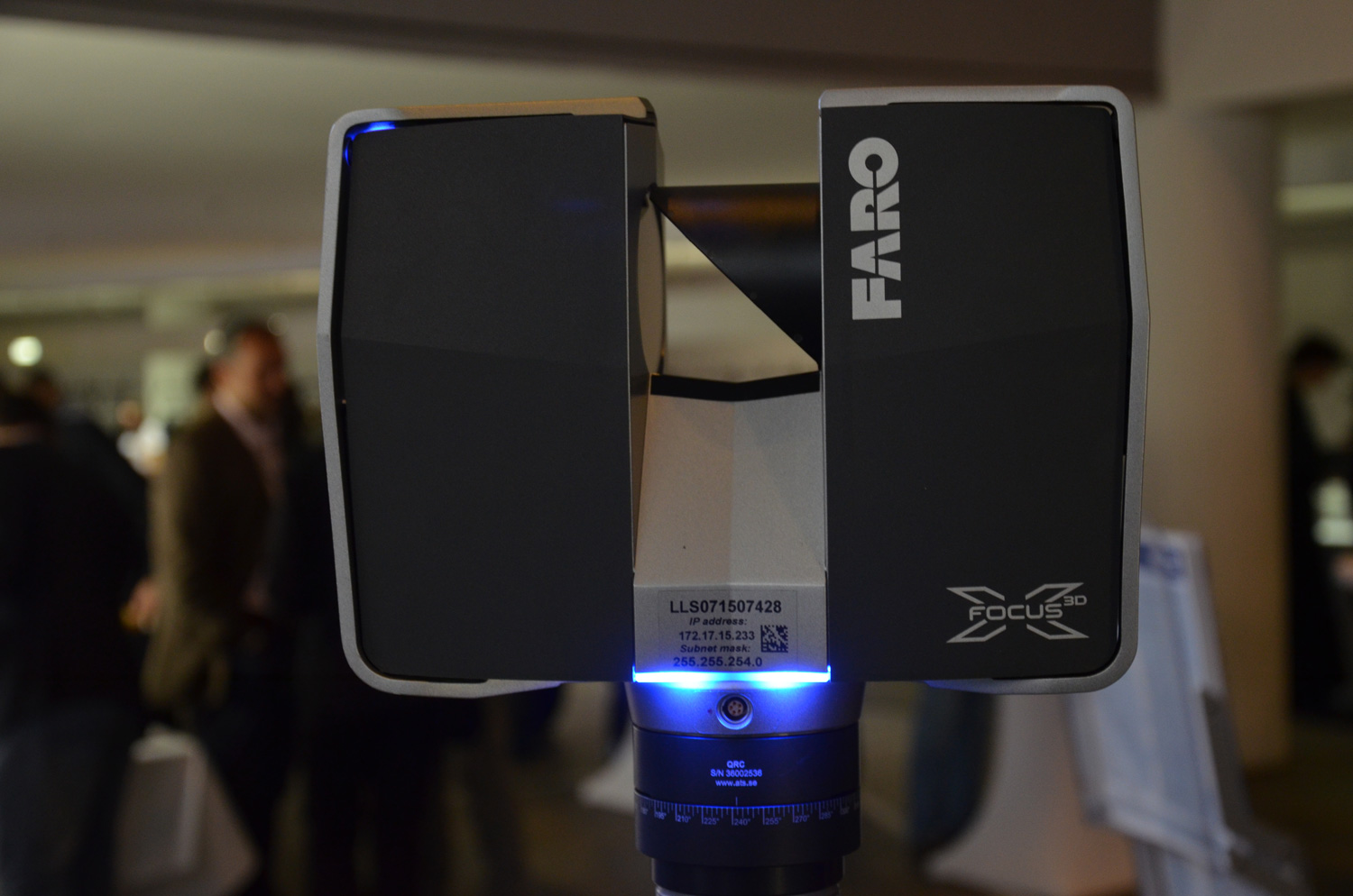 "3D scanners like this one can now fit in your backpack. This Faro model is one of the best scanners on the market, but the price is still very much ""available on request."" On specialist forums, its value is estimated at around 30,000 euros."