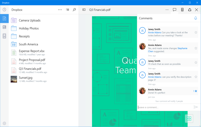 Microsoft Announces A Dropbox App For Windows 10 Tablets & PCs, Windows 10