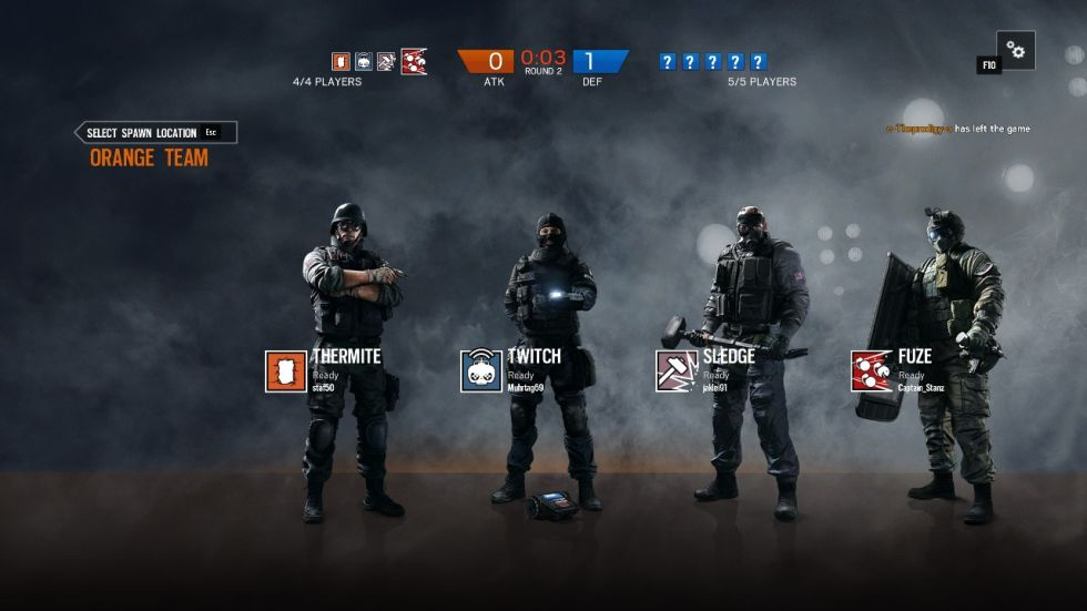This screen shows an all-too-common sight in ranked multiplayer, which is one player leaving after the team loses a single round. The punishments for this are nowhere near severe enough.