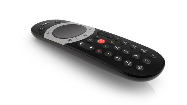 The new Sky Q remote.