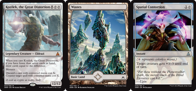 Perhaps the biggest change in Oath of the Gatewatch is the addition of the colourless mana symbol. The five basic lands cannot be used to cast cards with this symbol.
