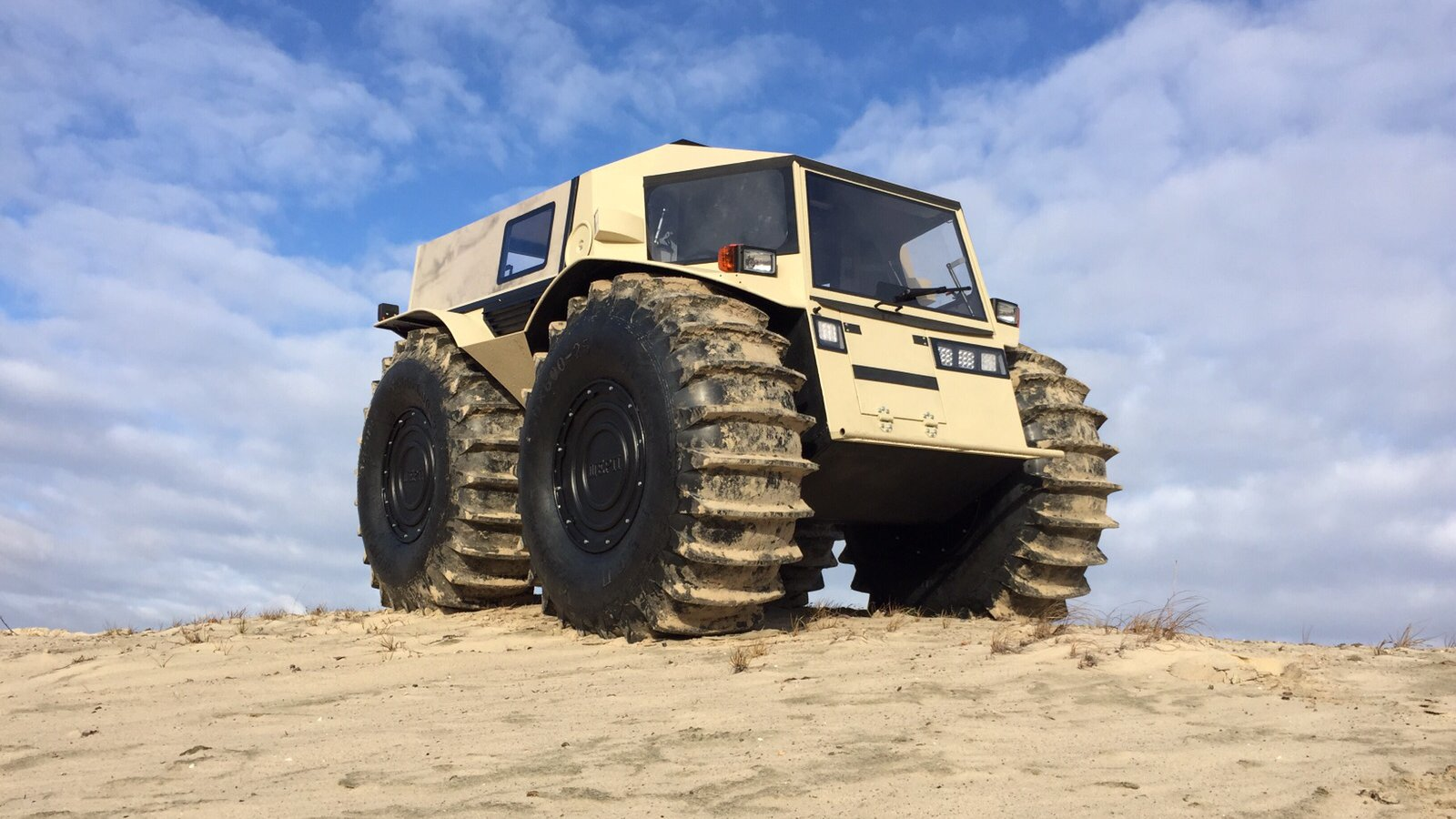The Sherp, a Russian-made all-terrain vehicle