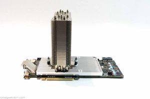 The wondrous custom-made GPU heatsink.