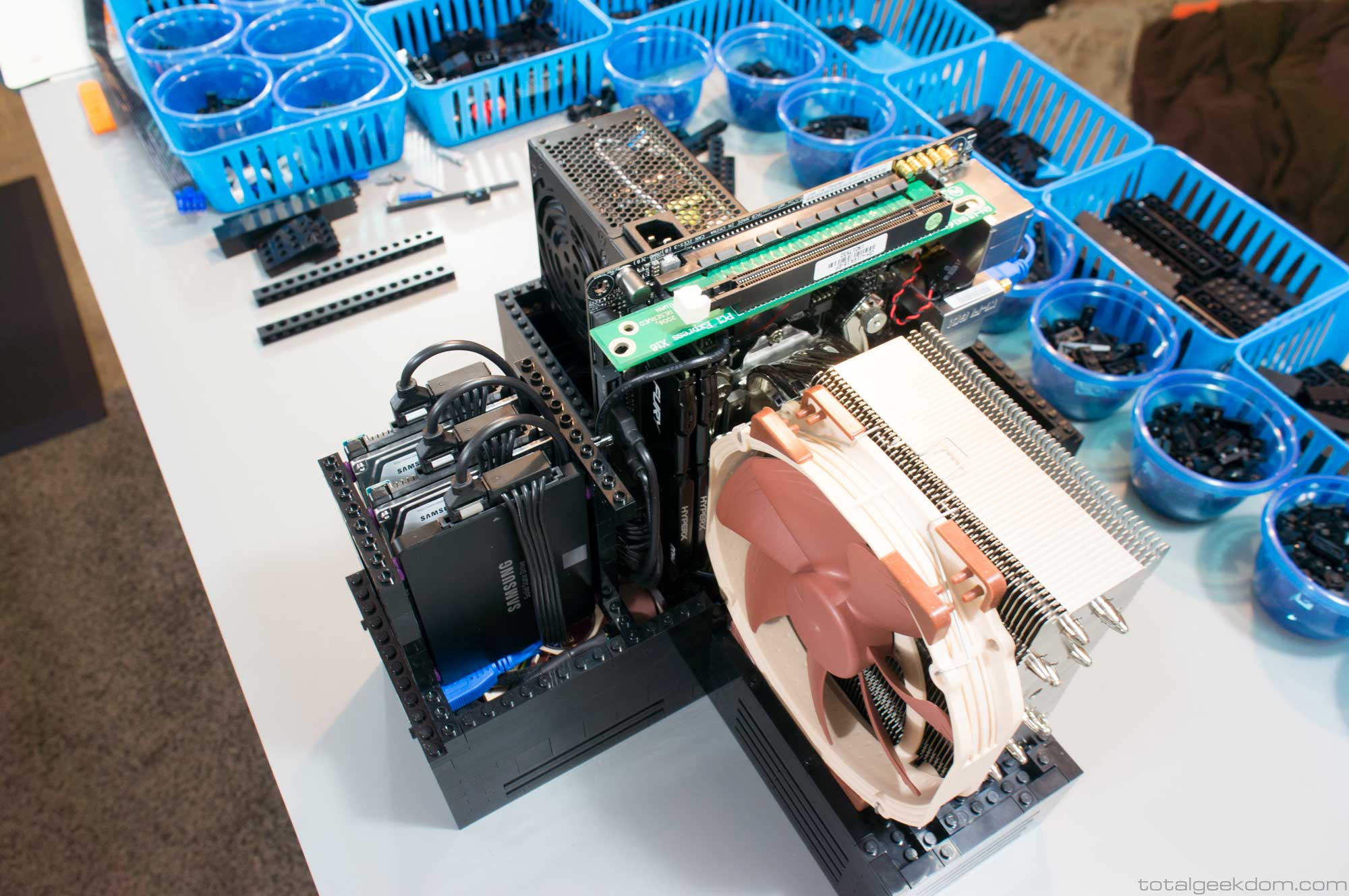 There's space for three 2.5-inch drives.