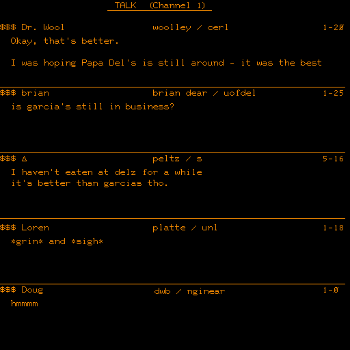 This is what Talkomatic, the world's first multi-user chat room, looked like back in 1973.