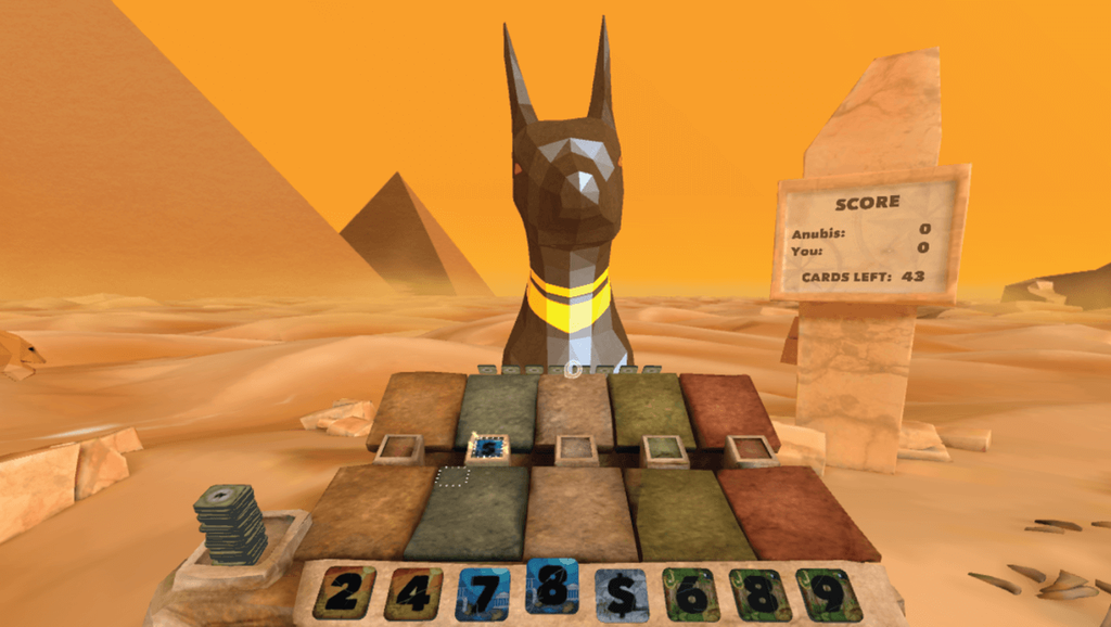 An Egyptian-themed game world.