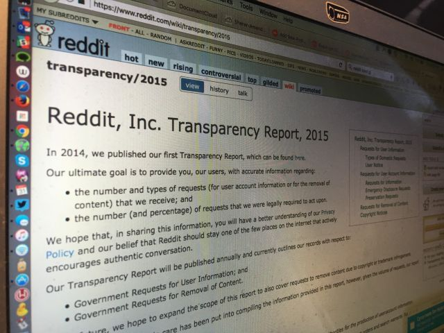 Reddit Removes 'Warrant Canary' In Transparency Report: What This Means In English