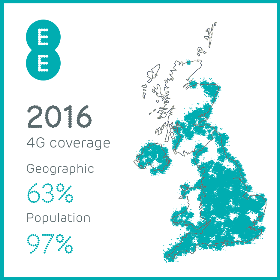 EE's planned 4G coverage in 2016