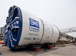 A big ol' Crossrail tunnel boring machine (TBM).
