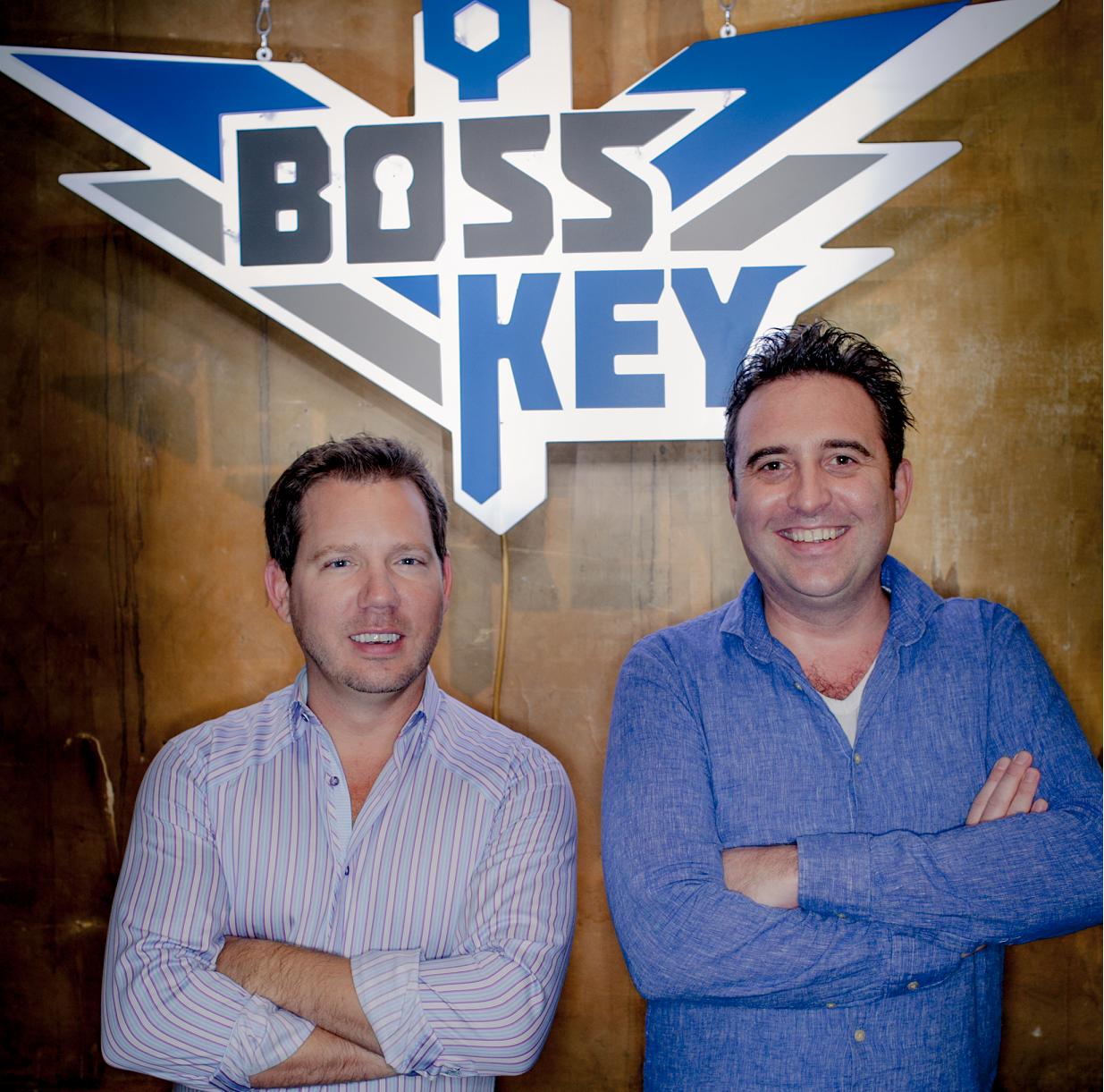 Cliff Bleszinski (left) with Boss Key COO Arjan Brussee.