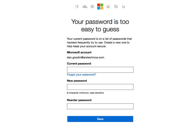 Microsoft bans rubbish passwords following LinkedIn leak