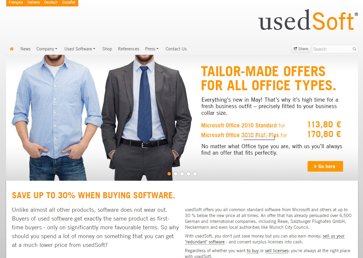 UsedSoft, which resells software licences, is still going.
