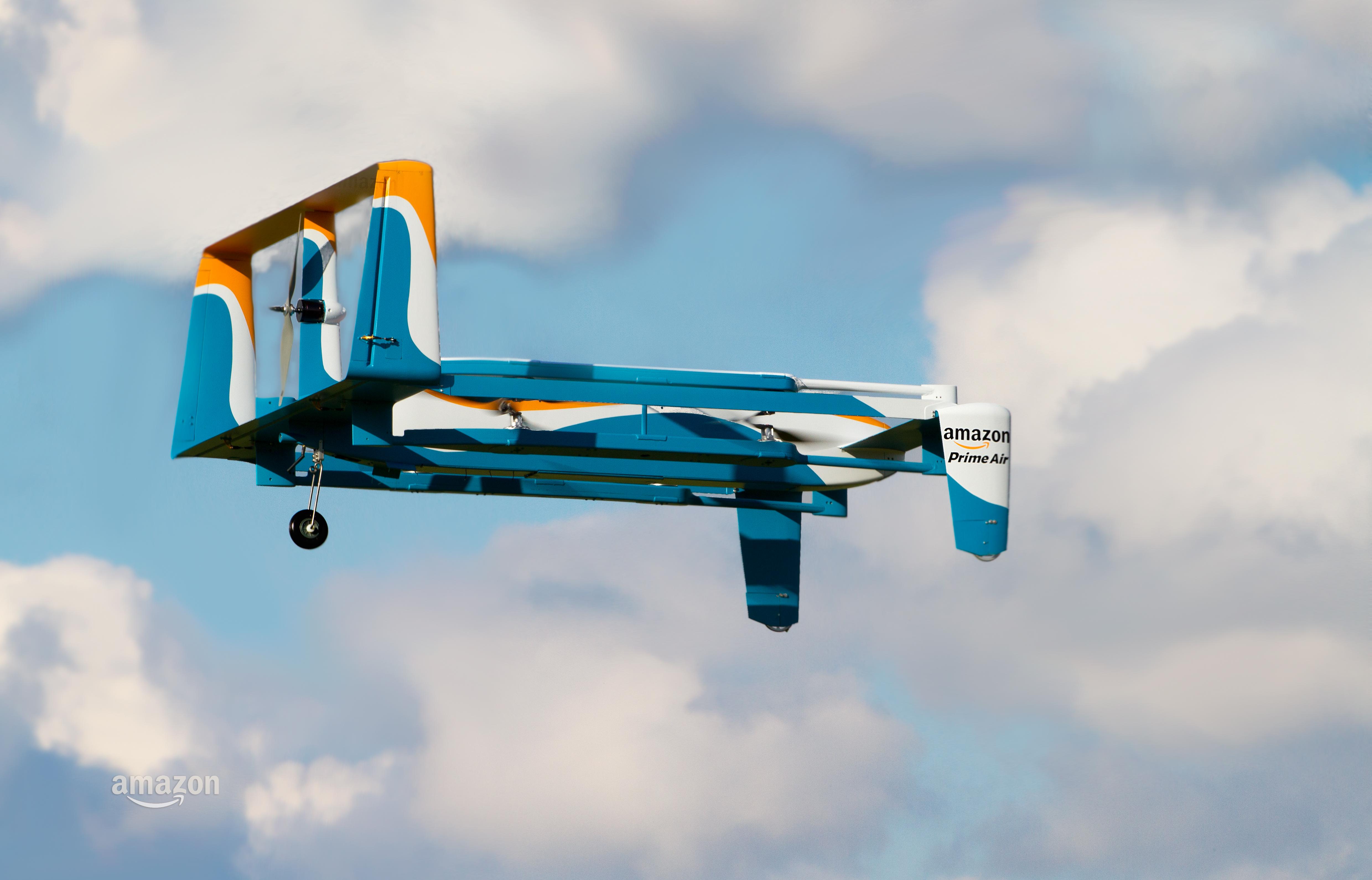 Amazon Prime Air delivery drone.