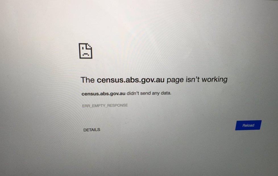 The offline census website.